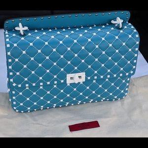 SET-Valentino White Studs bag-wallet-Large Size